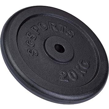 ScSPORTS - Pesa en Forma de Disco para halteras (20 kg, Hierro Fundido): ScSPORTS: Amazon.es: Deportes y aire libre