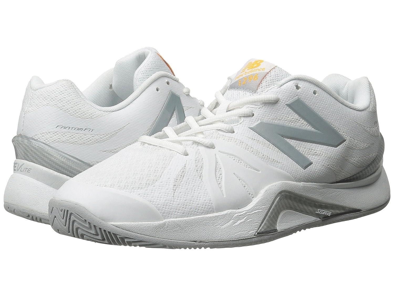 (ニューバランス) New Balance レディーステニスシューズスニーカー靴 WC1296v2 White/Grey 8.5 (25.5cm) B - Medium B078G85T79