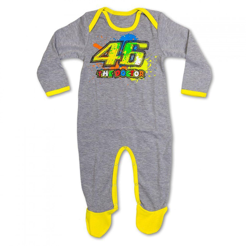 5766bde5f5 Pijama pelele VR46 Valentino Rossi - Talla 6 meses  Amazon.es  Coche y