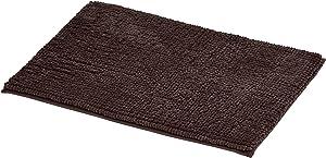 AmazonBasics Chenille Loop Memory Foam Bath Mat - Small, Brown