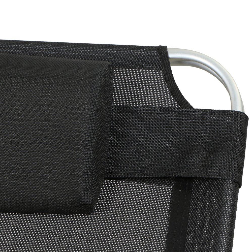 Quadro Argento 214/x 70/x 45/cm Nero Siena Garden Sdraio Sole Alluminio Klap pliege Colore