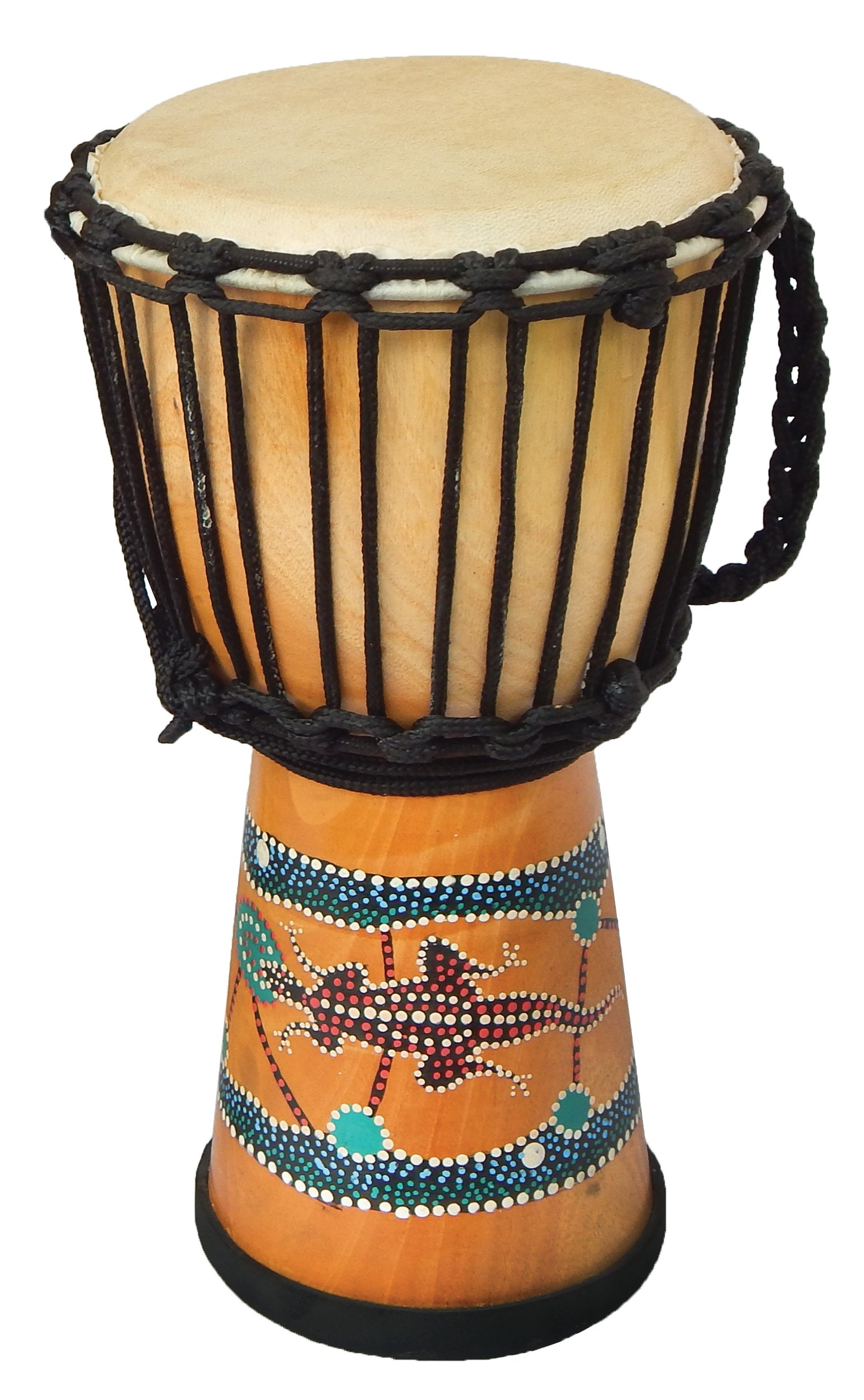 Djembe Standard paint, 24'' tall, 12'' head, DSG 109 by Terre (Image #1)