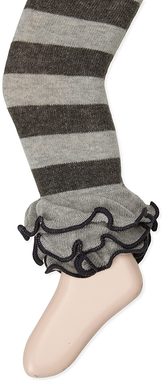 Jefferies Socks Girls Dot /& Stripe Multi Ruffle Footless Tight