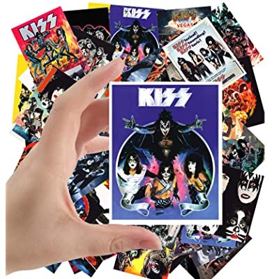 "Large Stickers (24 pcs 2.5""x3.5\"") Kiss Rock Group Vintage Posters Movies Comic: Toys & Games [5Bkhe1003546]"