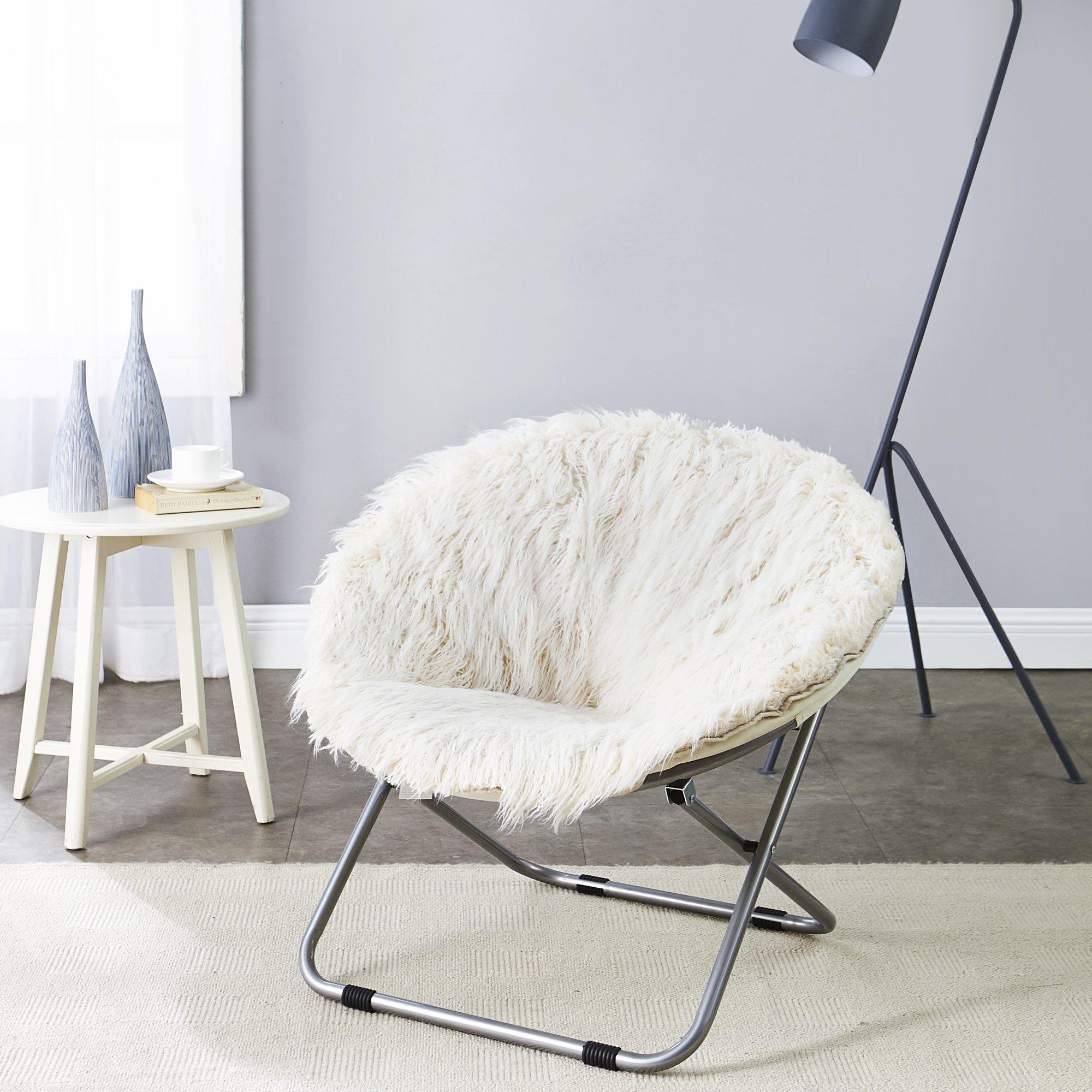 Fur Moon Chair - Polar White