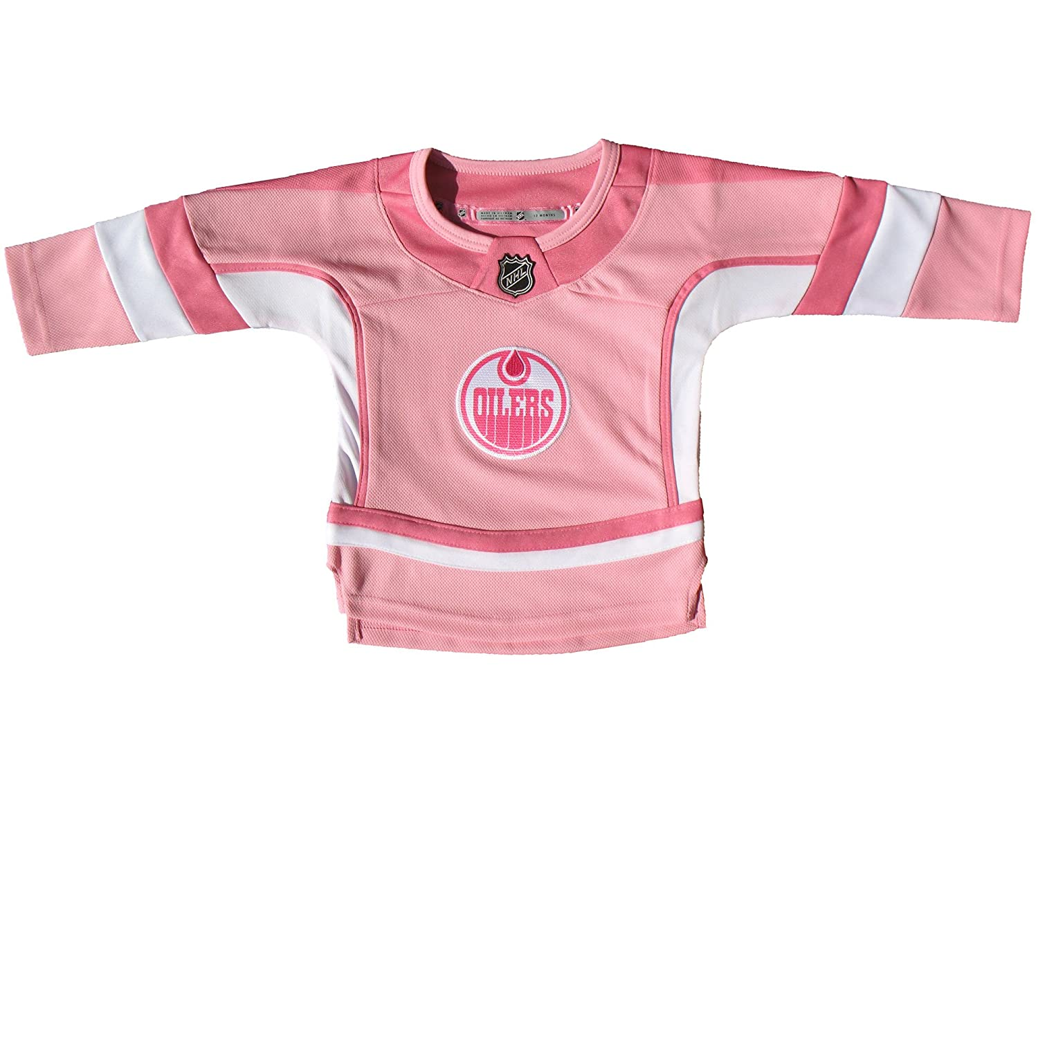 Edmonton Oilers Toddler Girls Pink Fashion Jersey Outerstuff