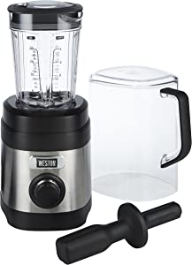 Weston Sound Shield Pro Series 1.6hp Blender with 32oz Jar, Variable Speed Dial for Puree, Ice Crush, Shakes and Smoothies, Black and Stainless Steel (58917)