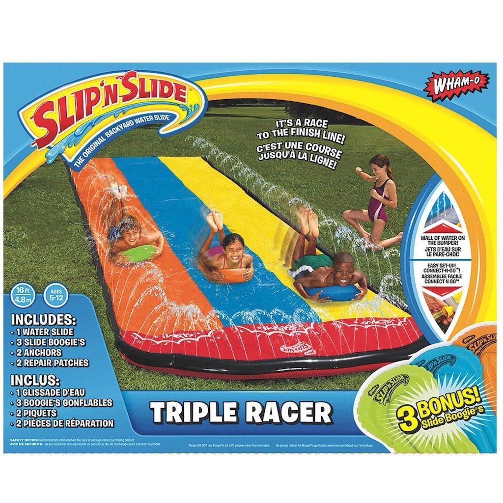 Slip N' Slide Triple Racer with Slide Boogie Board by Wham-O