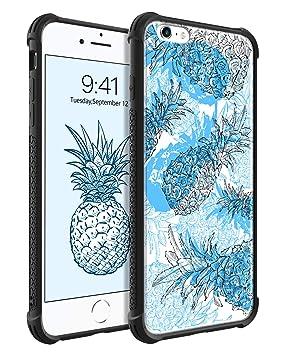 BENTOBEN Funda iPhone 6s Plus, Funda iPhone 6 Plus, Ultra Delgada Linda Carcasa Case Cover Diseño de la Piña Mono Original Silicona TPU Antigolpe ...