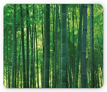 Amazon Com Ambesonne Bamboo Mouse Pad Oriental Exotic Bamboo
