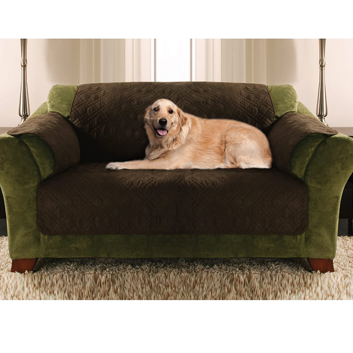 Amazon Yes Pets Love Seat Size Quilted Micro Suede Furniture
