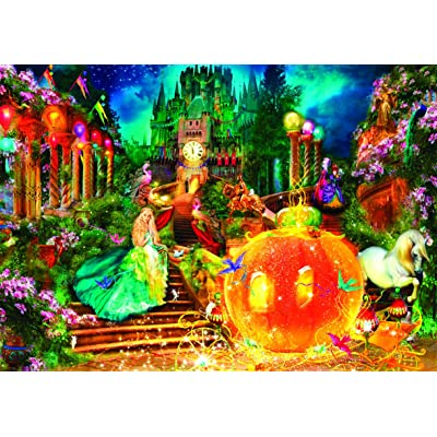 Puzzle Collector Art 750 Piece Puzzle - Cinderella by Aimee Stewart: Toys & Games
