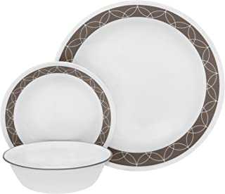 product image for Corelle Service for 6, Chip Resistant, Sand Sketch dinner plates, 18-piece