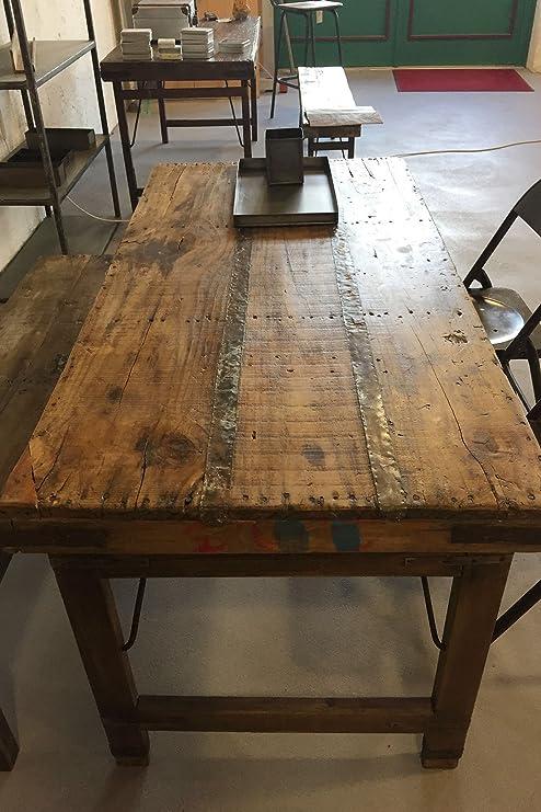 Mesa de comedor vintage de madera plegable Shabby-Chic.: Amazon.es ...