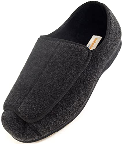 Mens Orthopaedic / Eee Wide Fit Adjustable Velcro Slipper Boot / Slippers GF_1454
