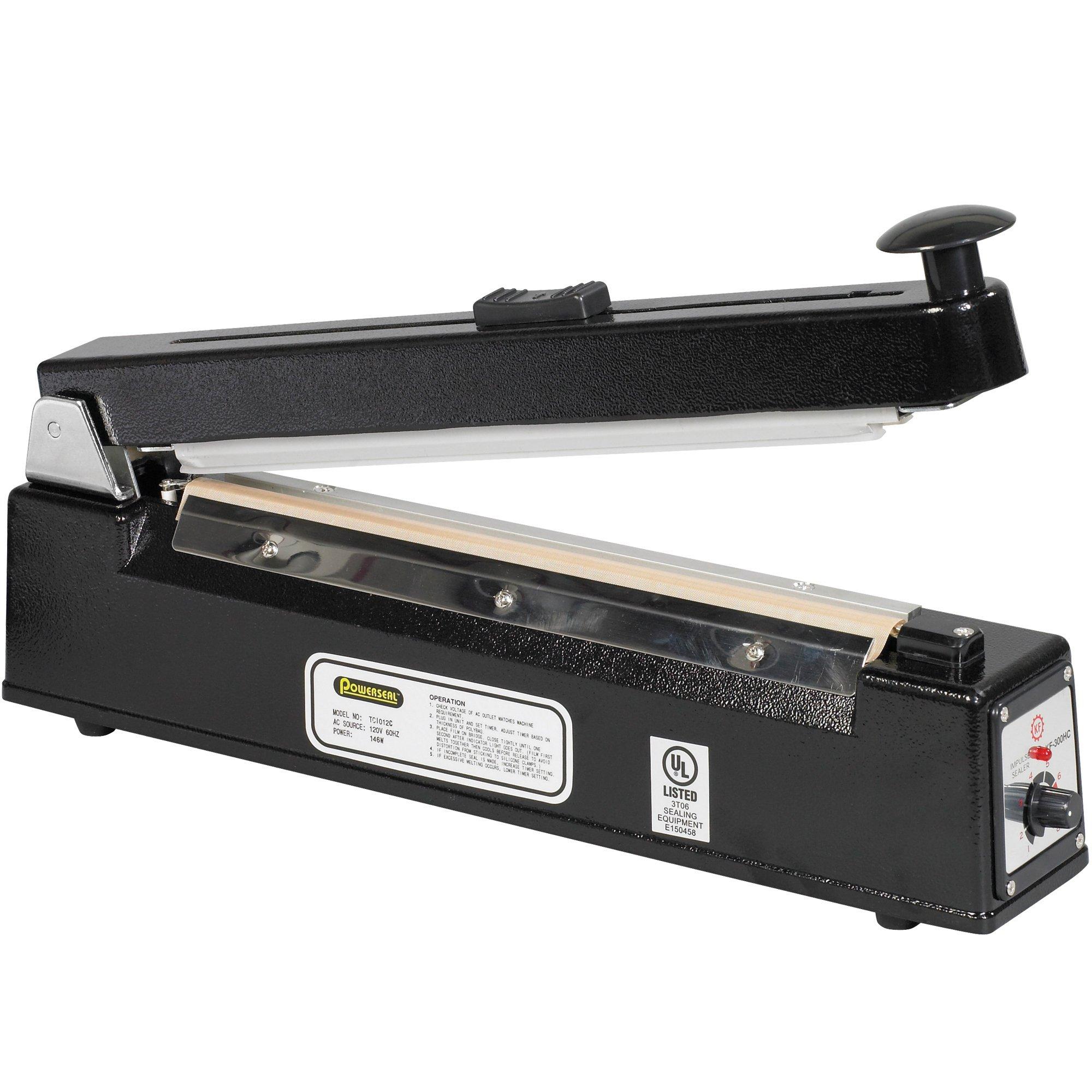 Box Partners Powerseal 12'' Impulse Sealer with Cutter (SPBC12)