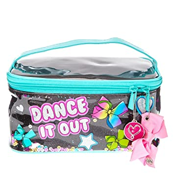 98c264c7dedf JoJo Siwa Dance It Out Glitter Square Tote Carry Bag with Pink Bow Zipper   Amazon.co.uk  Office Products