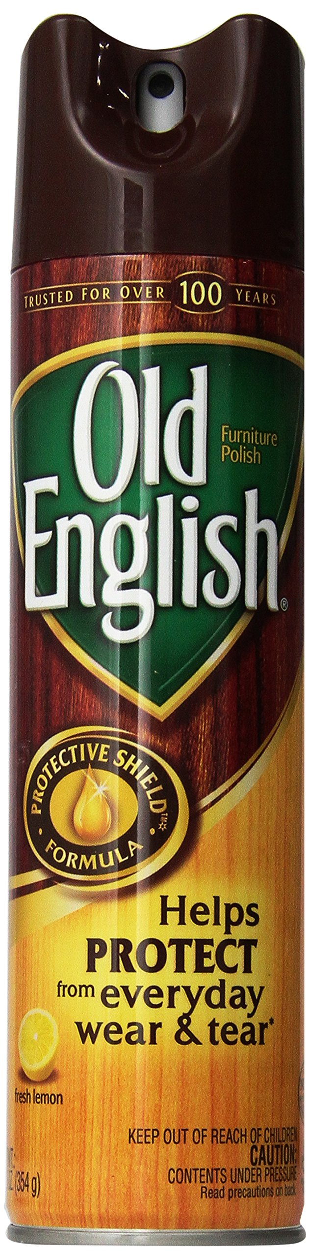 Old English Furniture Polish, Lemon 150 oz (12 Cans x 12.5 oz) by Old English