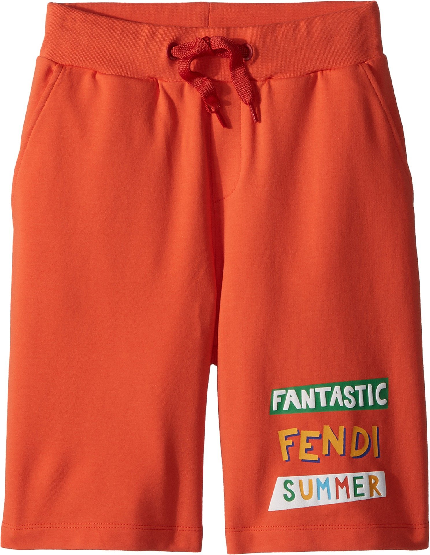Fendi Kids Boy's 'Fantastic Fendi Colours' Jogging Shorts (Little Kids) Orange 8 Years