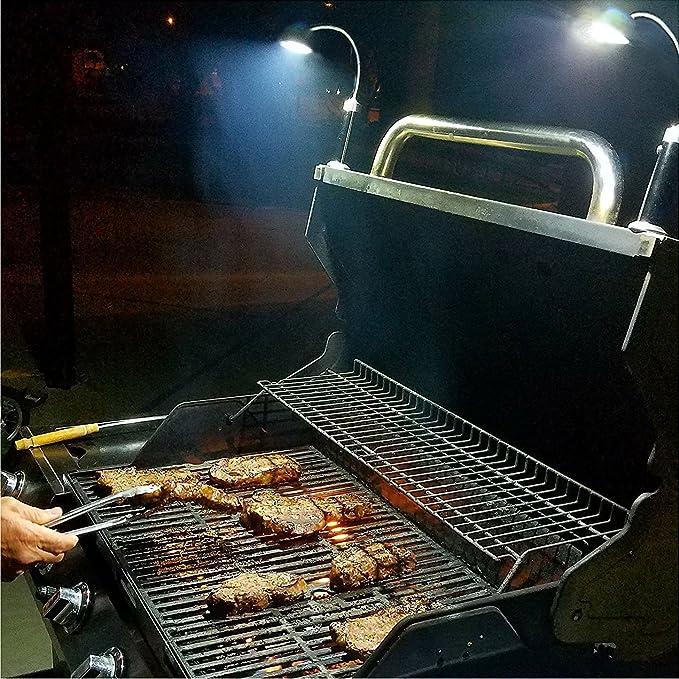 Barbacoa Luz autodog magnética LED Set de proyección 360 ° Ajustable BBQ, barbacoa/grill Asar parrilla al aire libre (2 unidades, negro): Amazon.es: Jardín