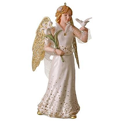 Christmas Angels.Hallmark Keepsake Christmas Ornament 2018 Year Dated Christmas Angels Peace