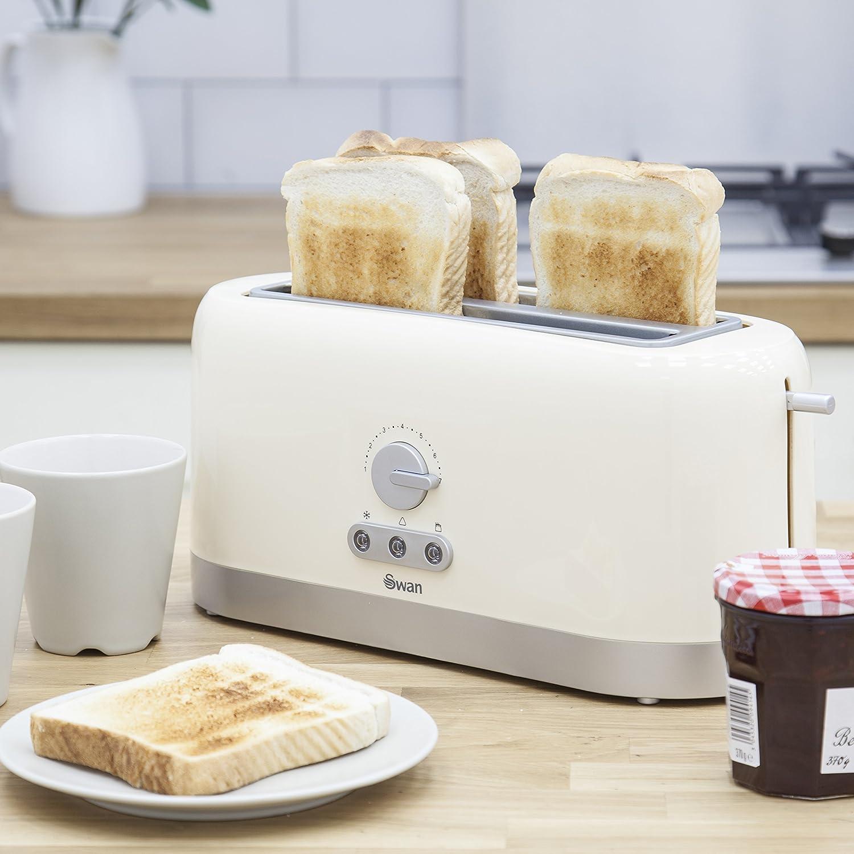 Swan 4 Slice Long Slot Cream Toaster