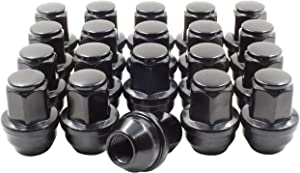 Wheel Accessories Parts 24 Black M14x1.5 OEM Factory Style Replacement Ford Lug Nuts 1 Piece Construction Compatible with OEM Wheels Only (Black)