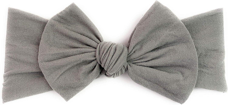 Headband Grey Nylon Bow