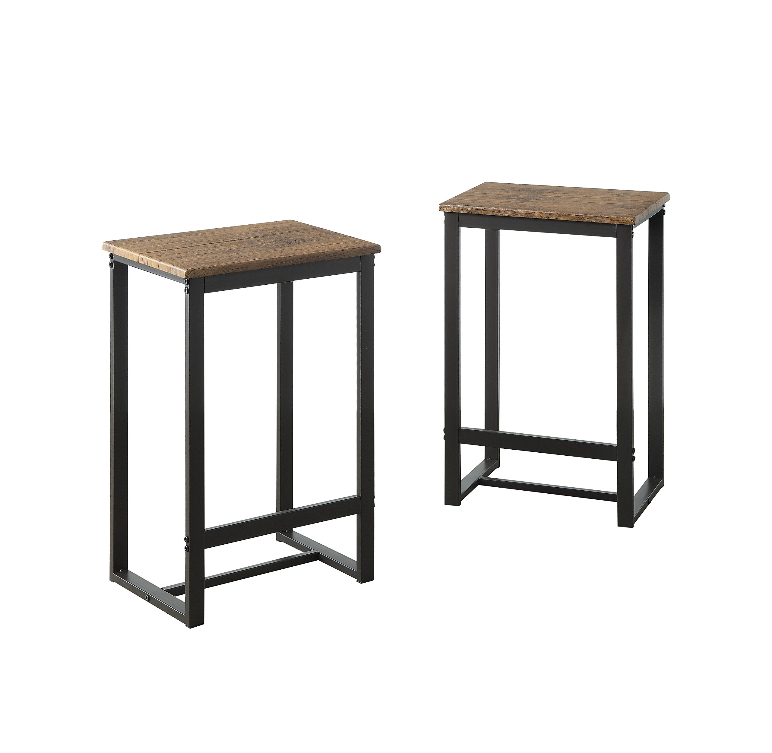 Abington Lane Set of 2 Stools - Sleek and Simple Chairs for Dining Tables, Kitchen Tables, Bar Stools by Abington Lane