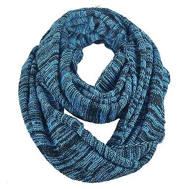 6113e4d63aa3 FORBUSITE Tour de Cou Chauffant,Snood Homme Hiver Écharpe  Cercle-Châle-Plaid-Femme-Tricot-E5001b(Bleu Lumineux)  Amazon.fr  Vêtements  et accessoires