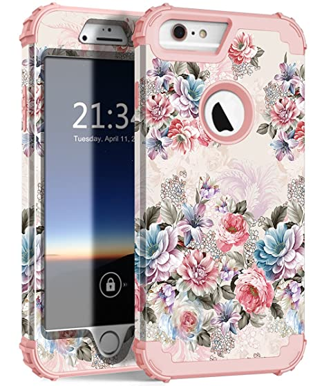san francisco ec155 75dd4 Hocase iPhone 6s Plus Case, Drop Protection Shock Absorbing Silicone  Bumper+Hard Shell Hybrid Dual Layer Full-Body Protective Case for iPhone 6  ...
