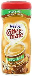Nestle Coffee-mate Sugar Free Vanilla Caramel Powder Coffee Creamer 10.2 Oz. Canister | 6 Pack | Non-dairy, Lactose Free, Gluten Free Creamer (11001992)