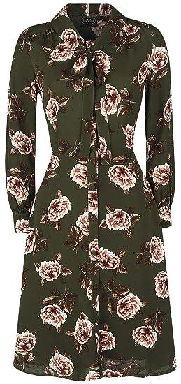 29d5da44fb43 VOODOO VIXEN Nora Floral 40s Style Tea Dress Medium-Length Dress  Multicolour XXL: Amazon.co.uk: Clothing