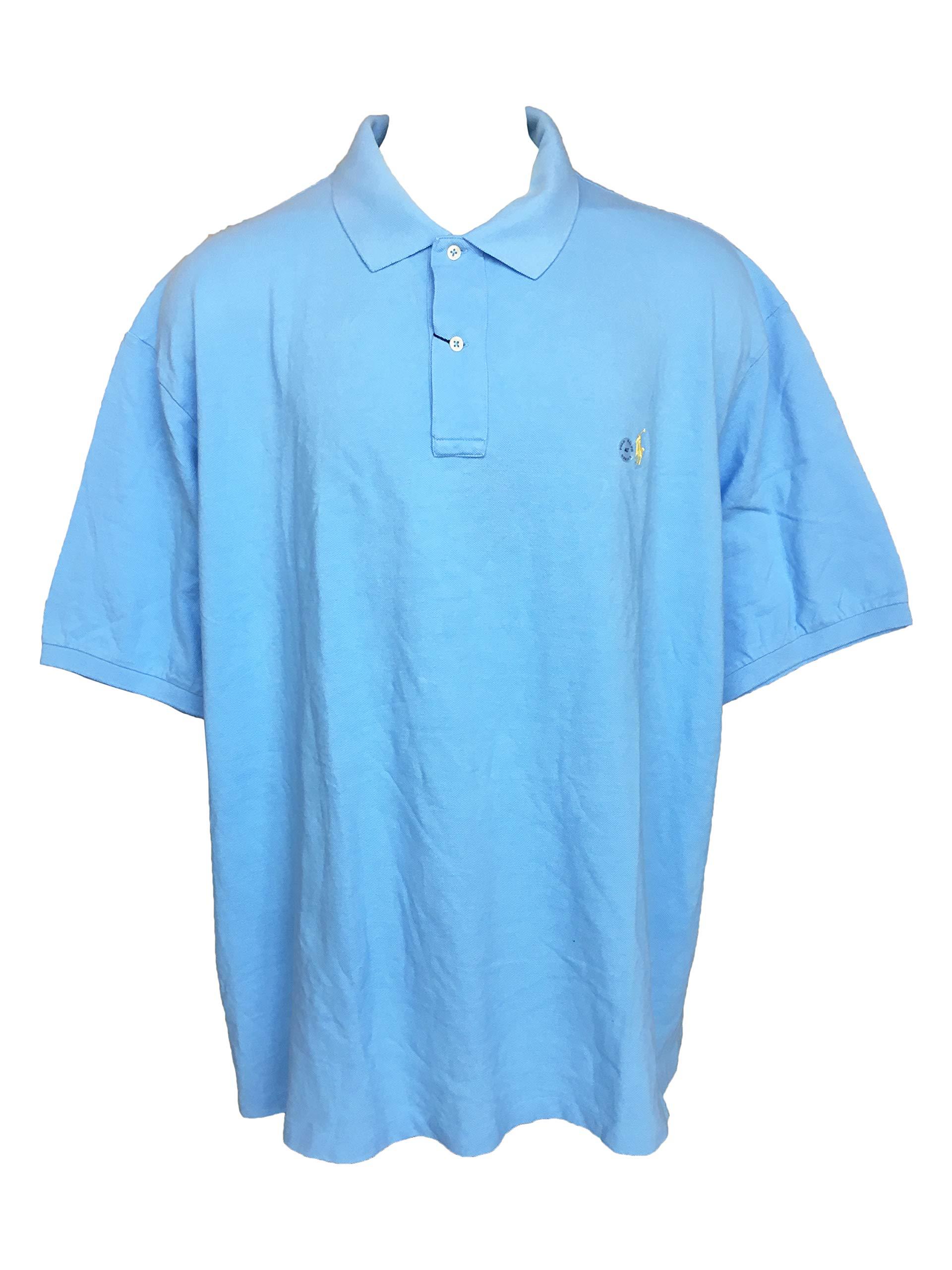 Polo Ralph Lauren Men Classic-Fit Mesh Polo (4XLT, Chat Blue)