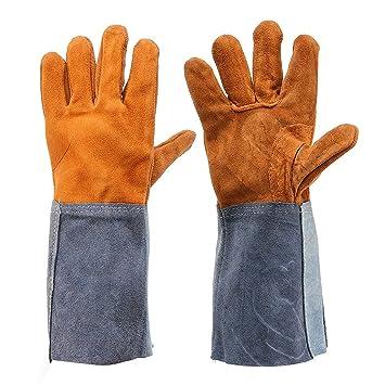 bureze 2pcs jardín guantes de piel de vaca suave Plus: Amazon.es: Bricolaje y herramientas