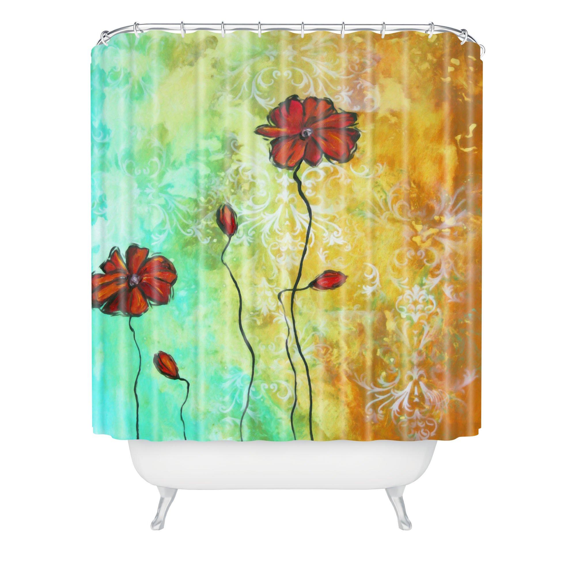 Deny Designs Madart Poppy Love Shower Curtain, 69'' x 90''