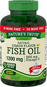 Nature's Truth 1200 Mg Omega-3 Fish Oil Softgels, 250 Count