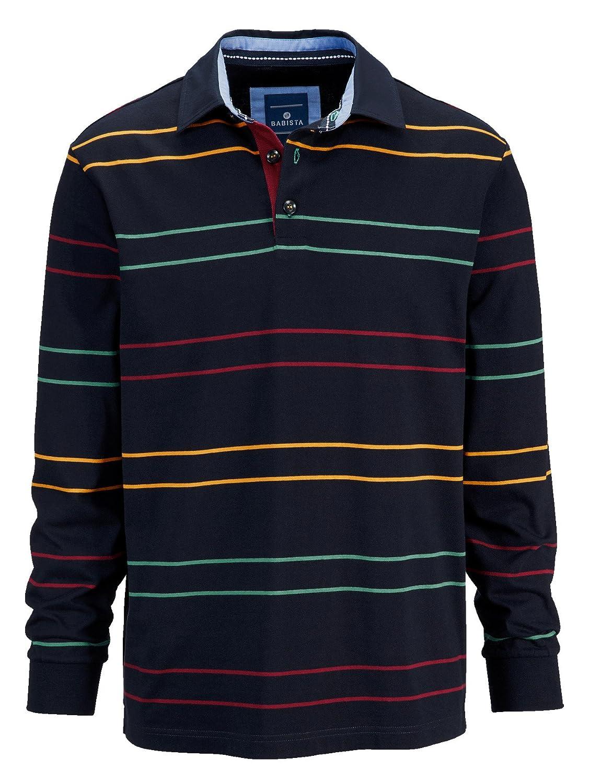 BABISTA Herren Sweatshirt Baumwolle mit bunten Streifen Hautsympathisch