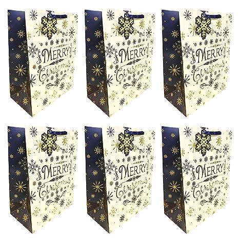 Bolsas de regalo de Navidad grandes, 6 unidades, para regalo ...