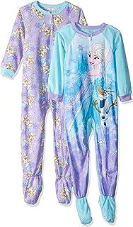 37060fd34a8f Amazon.com  Disney Frozen Elsa and Olaf Fleece Footed Pajama Sleeper ...