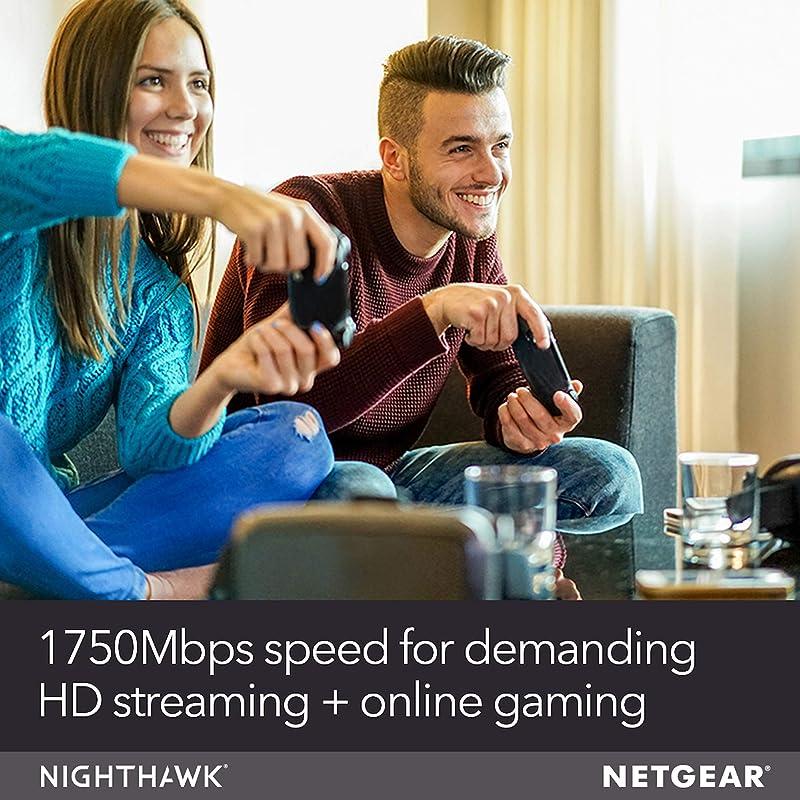 NETGEAR Nighthawk Smart Wi-Fi Router, R6700 - AC1750 Wireless Speed Up to 1750 Mbps