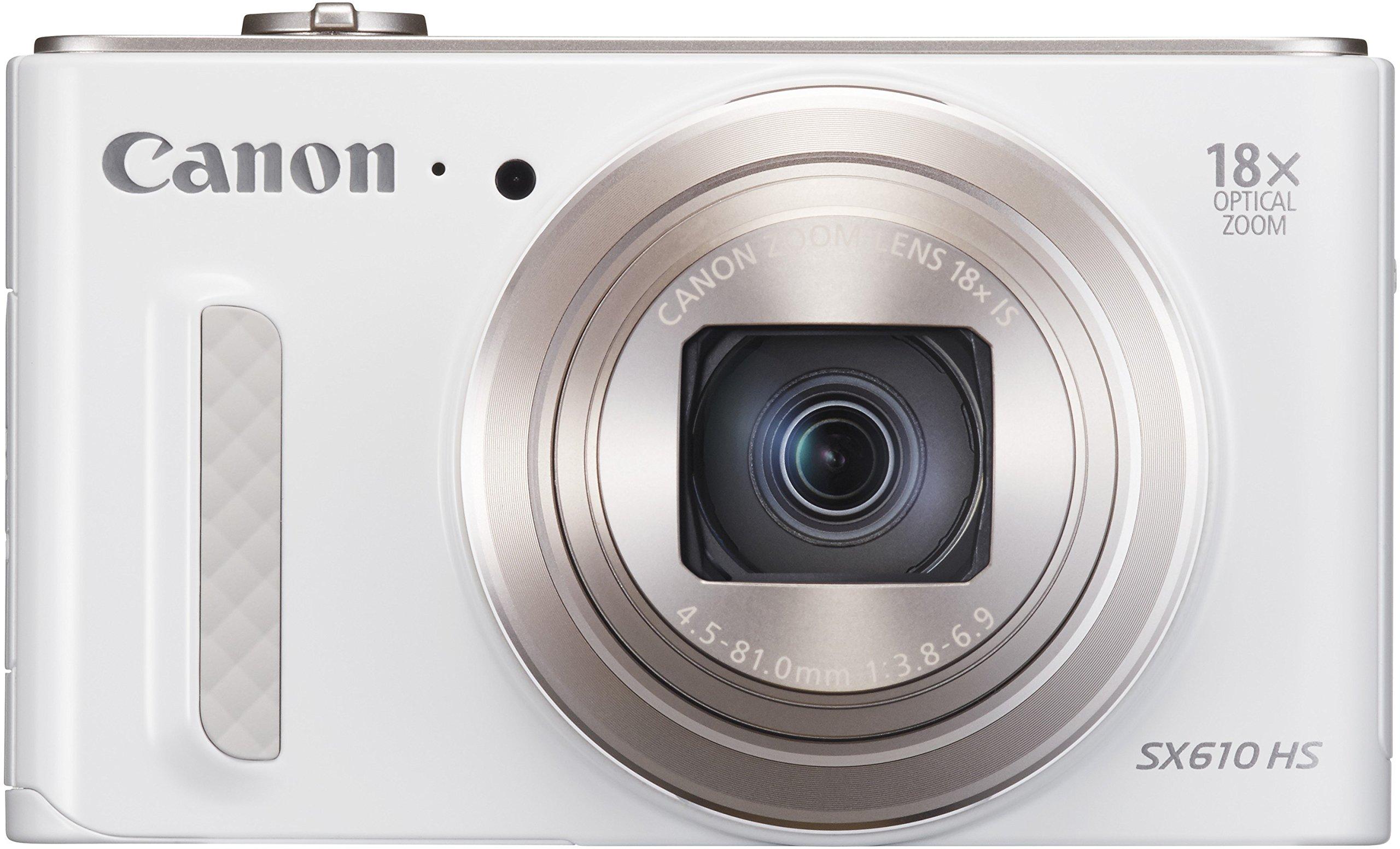 Canon SX610 HS PowerShot Fotocamera Compatta Digitale, 20 MP, Bianco product image