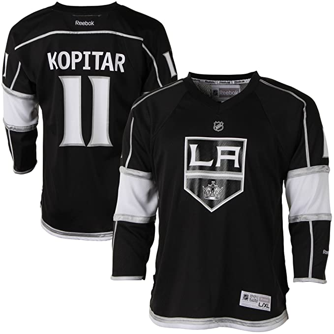 becd00abad0 Anze Kopitar Los Angeles Kings #11 Black NHL Youth Home Reebok Replica Home  Jersey Small/Medium: Amazon.ca: Clothing & Accessories