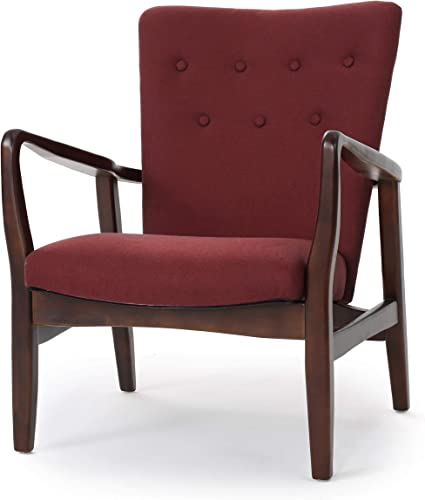 Christopher Knight Home Becker Fabric Arm Chair, Deep Red