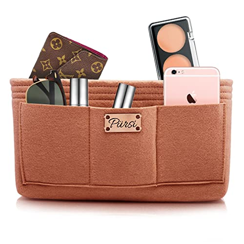 f067ab6f8f Amazon.com  Pursi Handbag Purse Organizer Insert - Felt Fabric Multi  Compartment Design  Shoes