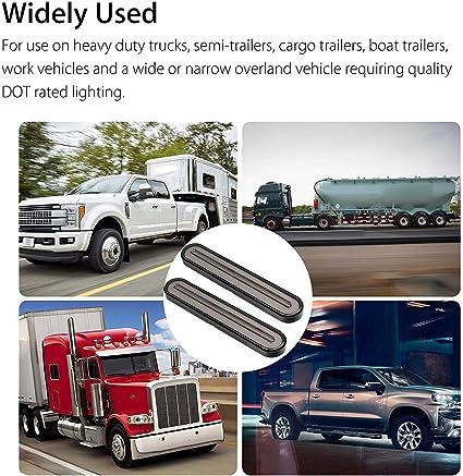 Mogoi Led Truck Trailer Rücklicht 3 In 1 Sequentielles Fließendes Rücklicht Anhänger Rücklicht Stop Turn Bremslicht Für Lkw Bootsanhänger 1 Paar Küche Haushalt