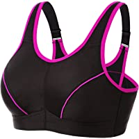 WingsLove Women's High Impact Sports Bra Wire-Free Full Support Workout Gym Bra