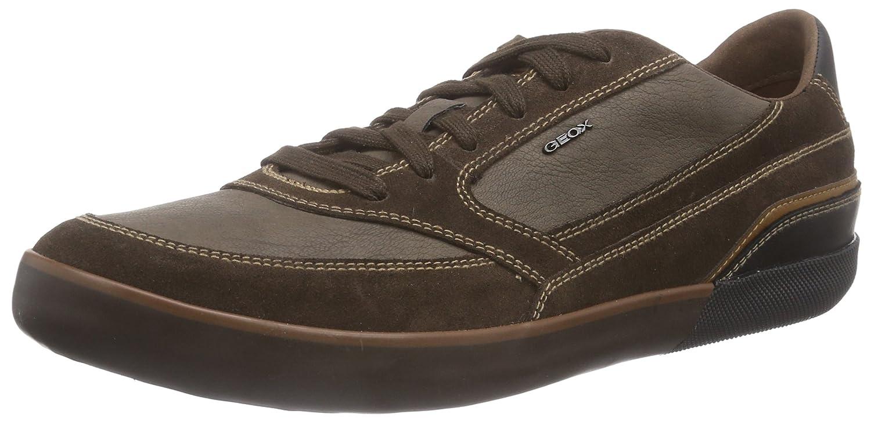 Geox U Box A - Zapatilla Deportiva de Cuero Hombre, Color marrón, Talla 45: Amazon.es: Zapatos y complementos