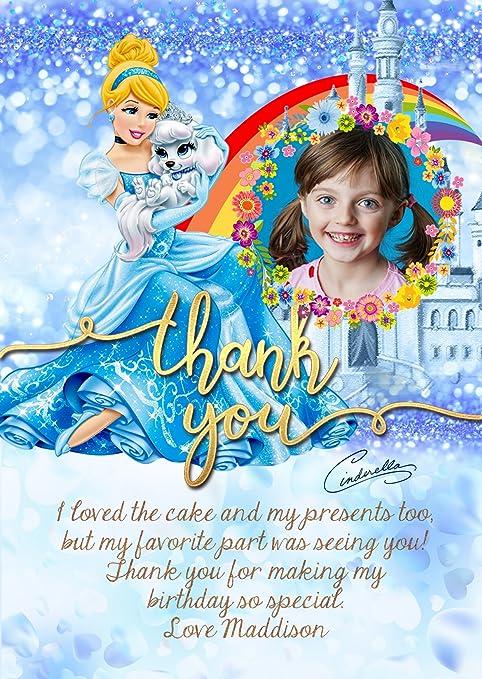 Personalizado Disney princesa Cenicienta invitaciones para ...