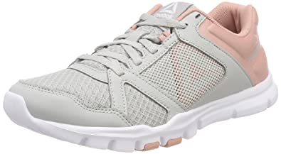 d28e993a0365 Reebok Women s Yourflex Trainette 10 Mt Fitness Shoes Grey (Skull Grey Chalk  Pink